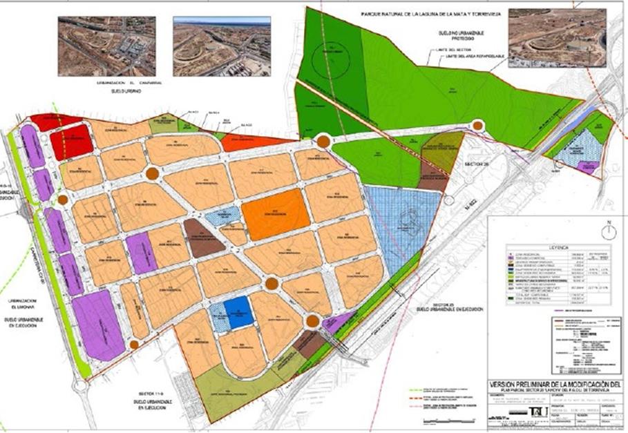 """Nuevo éxito de SERRANO & ASOCIADOS en la dirección y coordinación de la Modificación del Plan Parcial del Sector 20 """"La Hoya"""", en el t.m. de Torrevieja, aprobado con carácter definitivo."""